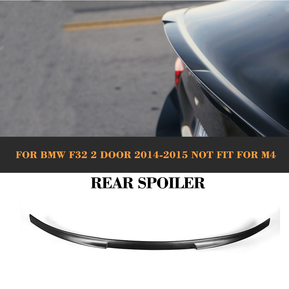 4 Series Black FRP Rear Trunk Spoiler Wing For BMW F32 428i 435i xDrive Gran Coupe 2014 2015 M4 Style NOT M4 Car Cover