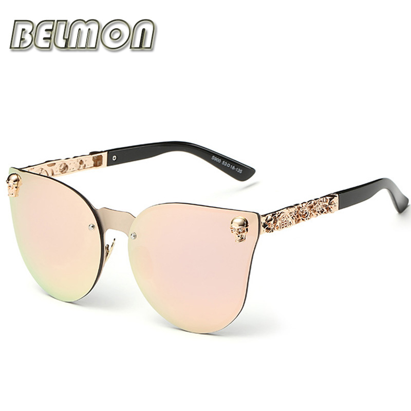 Fashion Luxury Sunglasses Women Brand Designer Skull Sun Glasses For Ladies Retro UV400 Anti-Reflective Female Oculos RS082 1