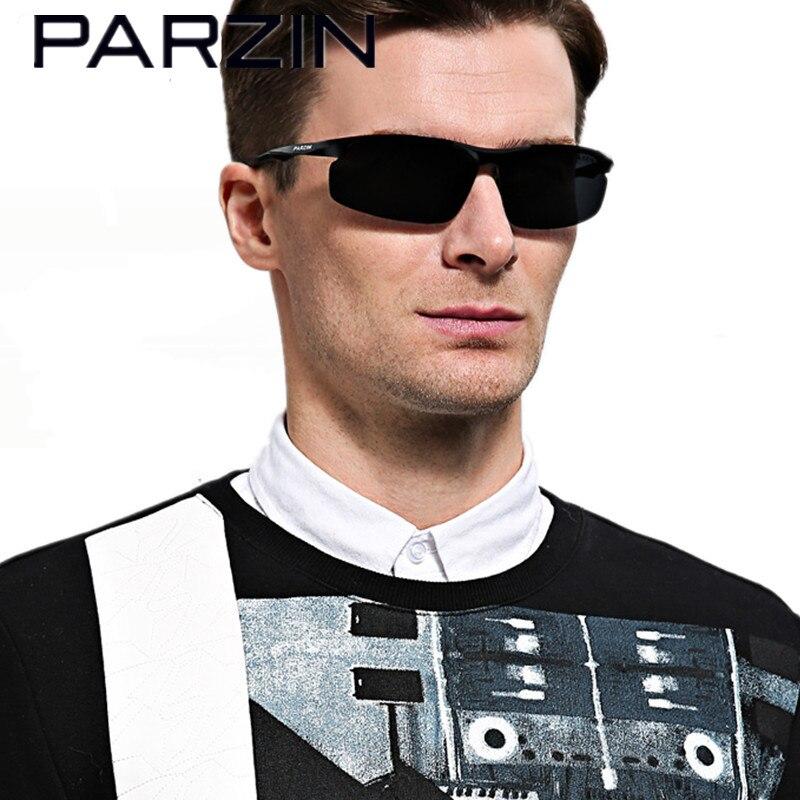 Sluneční brýle PARZIN Men Polarized Aluminium Men Driving Brýle Brýle s pouzdrem 8003