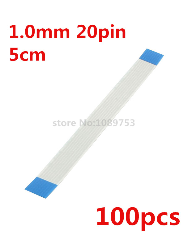 100pcs/lot Length 50mm 5cm Pitch 1.0mm 20 pin Isotropy Type A Flexible Flat Cable Wire