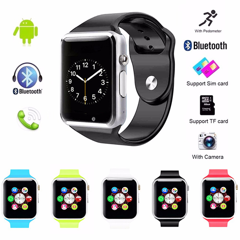67f7bea7a61c A1 Smart Watch For Android IOS With Camera Bluetooth Pedometer Sleep Tracker
