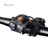 Deemount Bicycle Headlight Long Runtime 8 22.5 Hours 400Lumens Bike LED Lamp Front Lantern Light Rechargeable 4*#18650 Battery B