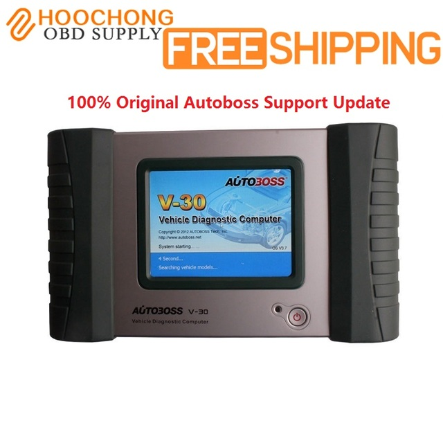European Edition Original Autoboss V30 Universal Diagnostic Tool autoboss V30 Auto Scanner Update Online DHL Free shipping