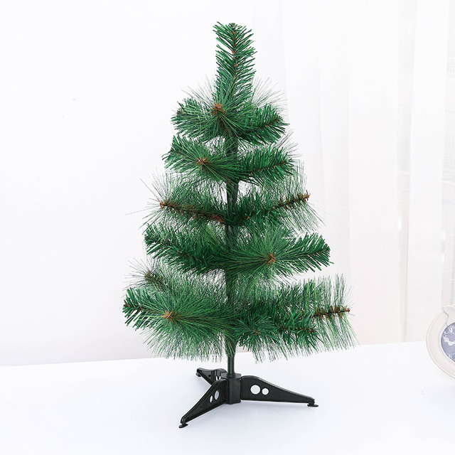 mini artificial christmas tree small xmas plastic tree 45cm new year home ornaments desktop decorations christmas