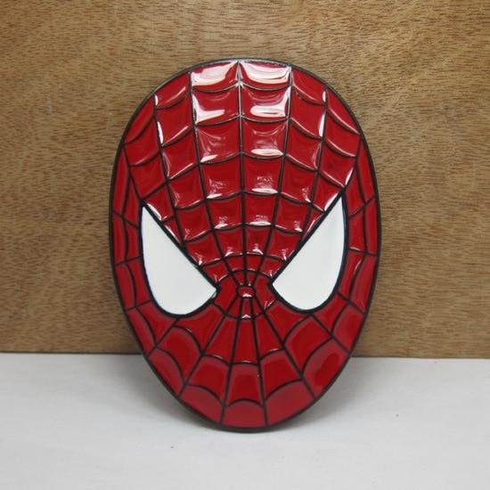 3D <font><b>Spiderman</b></font> <font><b>Mask</b></font> <font><b>Belt</b></font> <font><b>Buckle</b></font> the Avengers Marvel red Metal <font><b>buckle</b></font> Texas Fashion Mens Western Turbo Nos Tunning for 4cm <font><b>belt</b></font>