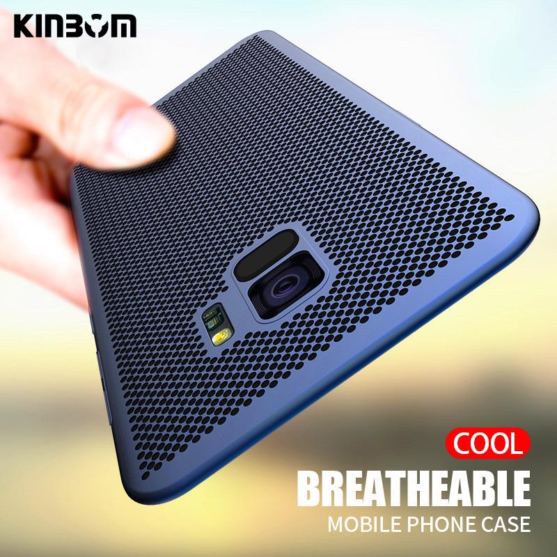 KINBOM Phone case For Samsung Galaxy S8 9 S10 Plus S7 Edge Note 8 heat dissipation cover for A50 30 40 70