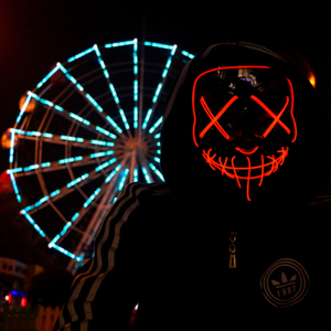Image 3 - Halloween LED Mask Purge Masks Election Party Mask Light Up Masks Glow In Dark Neon Mask