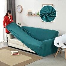 Cubierta de sofá de granos de maíz gruesa cubierta de sofá elástico forro Polar Universal antideslizante 1/2/3 /Fundas para sofá de 4 asientos
