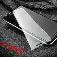 Pcs Para iphone 8 3 Plus Para Apple iphone X Xs Max XR 4 4S 5 5S 5c SE 6 6 s 9 7 Mais Protetor de Tela de vidro Temperado H 2.5D Arc