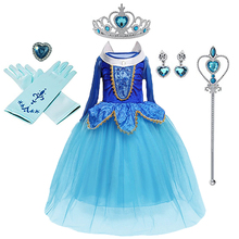 Girl Dress Elsa Anna Princess Girls Costume Cute Party Princess Cosplay Baby Dresses Children's Christmas Birthday Set Clothes baby girls dress christmas anna elsa cosplay costume summer dresses girl princess elsa dress for birthday party vestidos menina