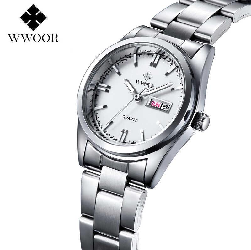2016 New Luxury Hiệu của Phụ Nữ Quartz Xem Ngày Ngày Đồng Hồ Thép Không Gỉ Xem Ladies Fashion Casual Watch Phụ Nữ Đeo Tay đồng hồ