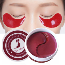 60 шт Кристалл CollagenAnti морщин маска для глаз гелевая нашивки в виде глаз увлажняющий маски для сна удаляет темные круглые лоскуты против старения