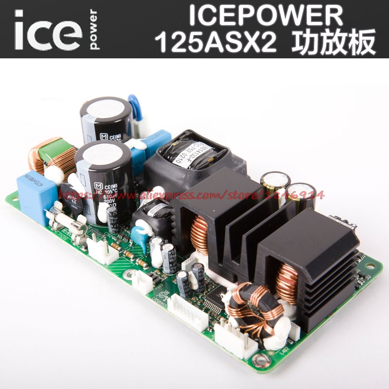 Free shipping ICEPOWER power amplifier board  ICE125ASX2 Digital power amplifier board have a fever stage power amplifier module