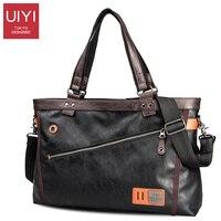 UIYI PU Men Business Briefcase Handbag Shoulder Bag High Quality Zipper Tote Bag Male UYS7011