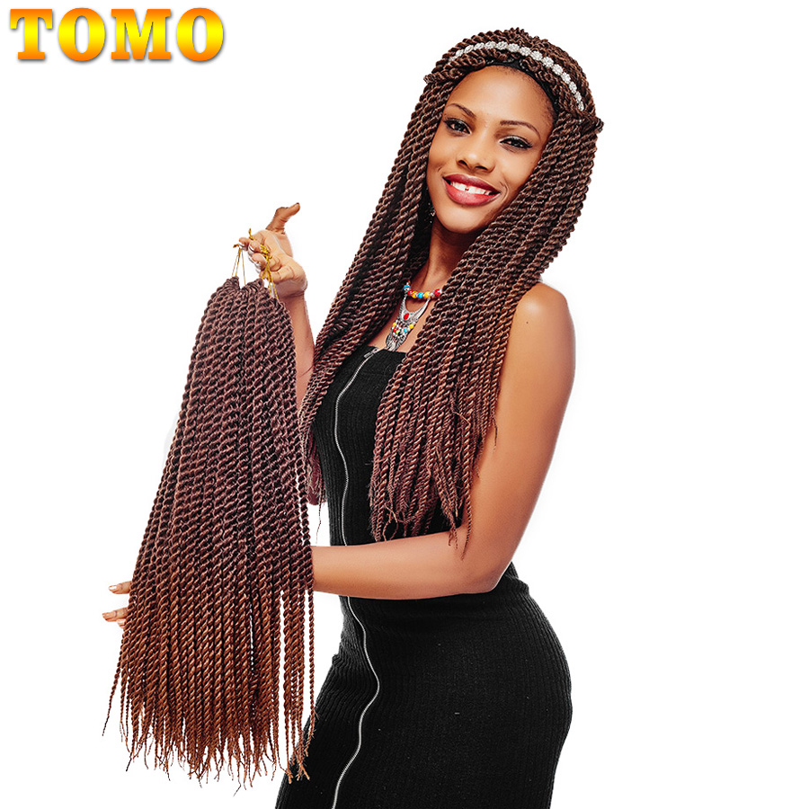 TOMO Ombre Kanekalon Crochet Hair Extensions 22strands 12 14 16 18 20 22 Synthetic Senegalese Twist Crochet Braids  ...