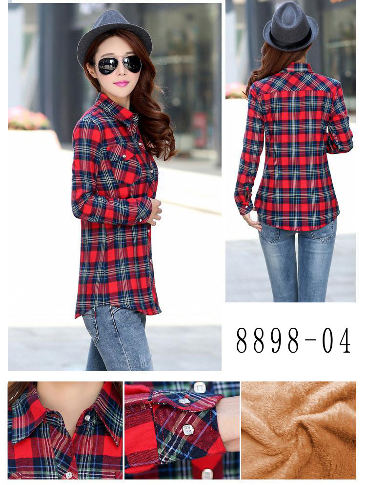 HTB1JptyRVXXXXaOXVXXq6xXFXXX8 - Velvet Thick Warm Women's Plaid Shirt Female Long Sleeve