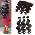 Ear To Ear Lace Frontal Closure With Bundles Indian Virgin Hair With Frontal Closure Indian Body Wave 3 Bundles With Closure