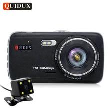 """Quidux 4.0 """"IPS Full HD 1296 P Видеорегистраторы для автомобилей Видео Камера Регистраторы ADAS Двойной объектив dashcam 1080 P видеокамера Ночное видение парковка мониторы"""