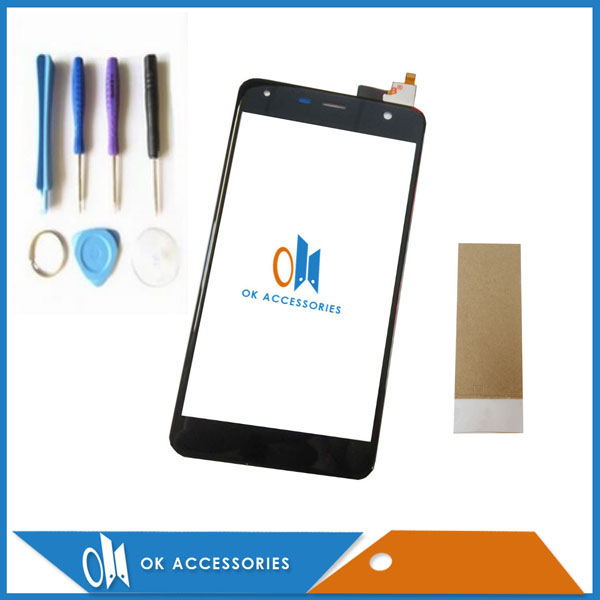 Black White Color 5.0 Inch For Fly FS517 cirrus 11 FS 517 Digitizer Touch Screen Glass High Quality With Tools and tape 1PC/Lot