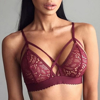 2019 Women Seamless Sexy Cross Bandage Crop Tank