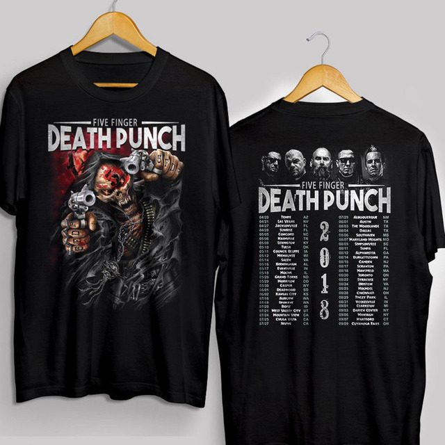 Limited Five Finger Punch 2018 Concert Tour Dates Tee T Shirt S 5xl