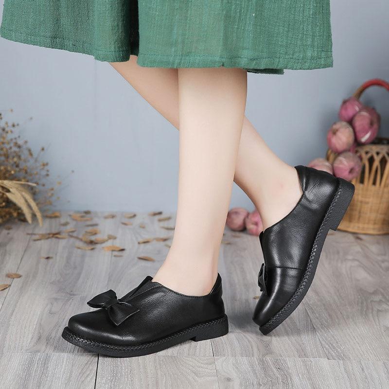 2017 VALLU Nueva Llegada Zapatos de Las Mujeres Planas de Los Talones de Cuero G