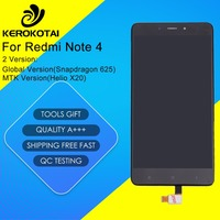 For Xiaomi Redmi Note 4 LCD Display Global Version Snapdragon 625 Touch Screen Digitizer MI Hongmi