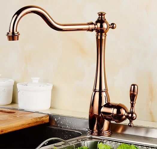 new arrival High quality brass gold finished 360 degree rotating hot and cold no lead safe kitchen sink faucet super high quality 304 stainless steel hot and cold no lead brushed basin safe sink kitchen faucet with german technology