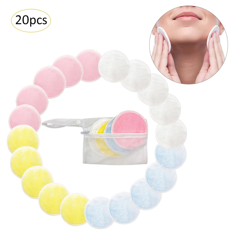 Makeup Remover Face Cleansing Cotton Eye Shadow Eyelash Lipstick Washable Reuse Cosmetic Clean Cotton Beauty Tools Cotton Pads