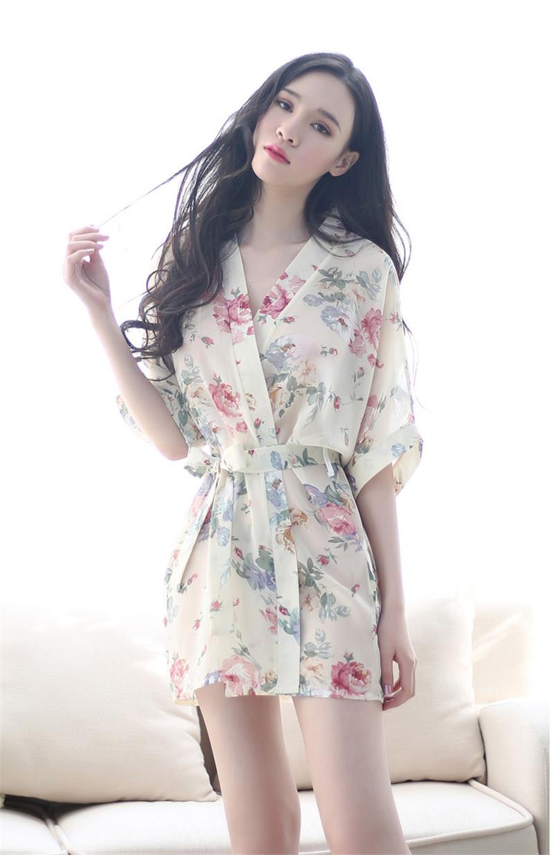 7ecdb44dd9 Women s Sleep   Lounge hot women floral robes sexy intimates Bathrobe  kimono uniforms lady fashion