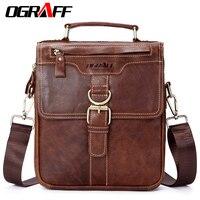 OGRAFF Bag Men Shoulder Bags Genuine Leather Handbags Male Designer Office Bag Leather Handbag Messenger Crossbody
