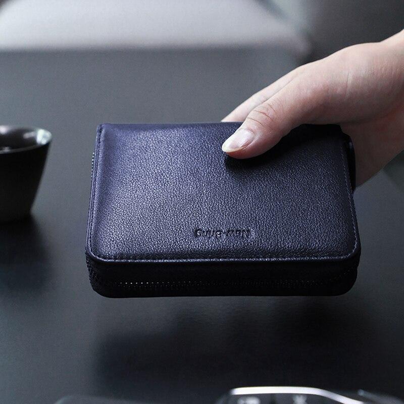 Image 5 - NewBring 30 Card Slots Organ Genuine Leather Card Holder Big Capacity Organizer Purse Nederlands Passport Cover Travel WalletCard & ID Holders   -