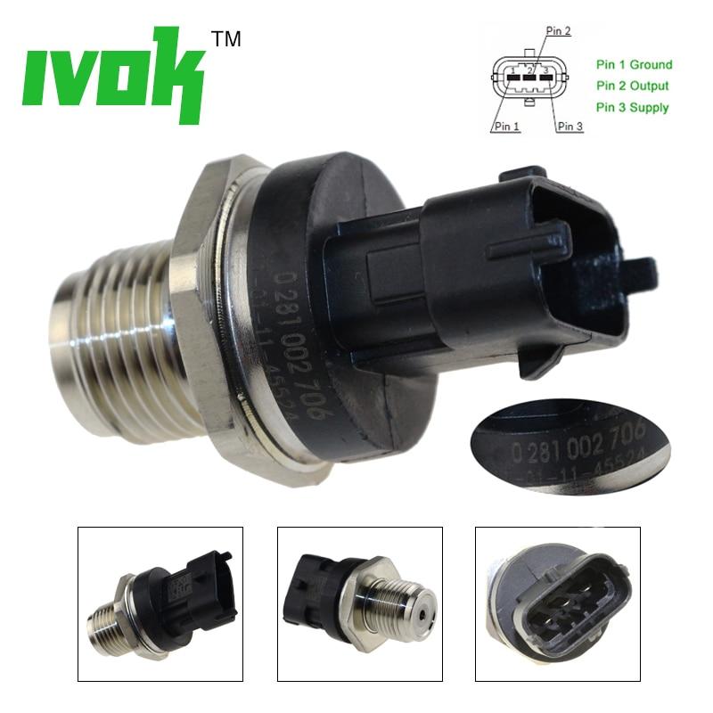 Melhor promoção 1800bar sensor de pressão do trilho combustível 0281002706 0281002903 0281002937 para cummins volvo iveco homem fiat jack renault
