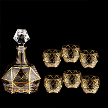 7pcs/set Luxury Various styles Crystal Glass Cup Whiskey and Brandy Wine High Capacity Bar Hotel Party Drinking ware