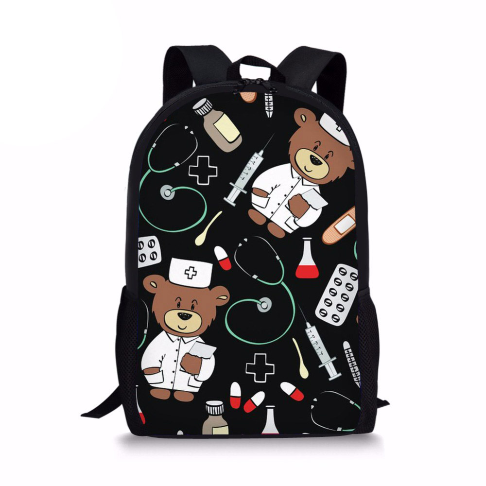 Customized Cartoon Kid School Backpack Child School Bag For Kindergarten Girl Baby Student Boy Cute Bear Doctor Children Back