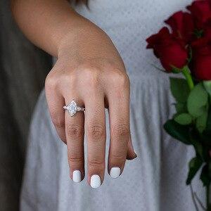 Image 4 - Pansysen高級婚約指輪女性新デザインmariquesa切断 925 スターリングシルバージュエリーリングファインジュエリー