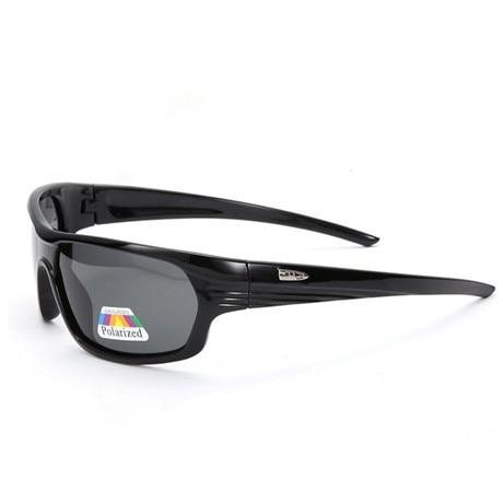 Glitztxunk Sport Sunglasses Men Polarized Square Retro Sun Glasses for Men Black Frame Outdoor Driving Eyewear Oculos Gafas