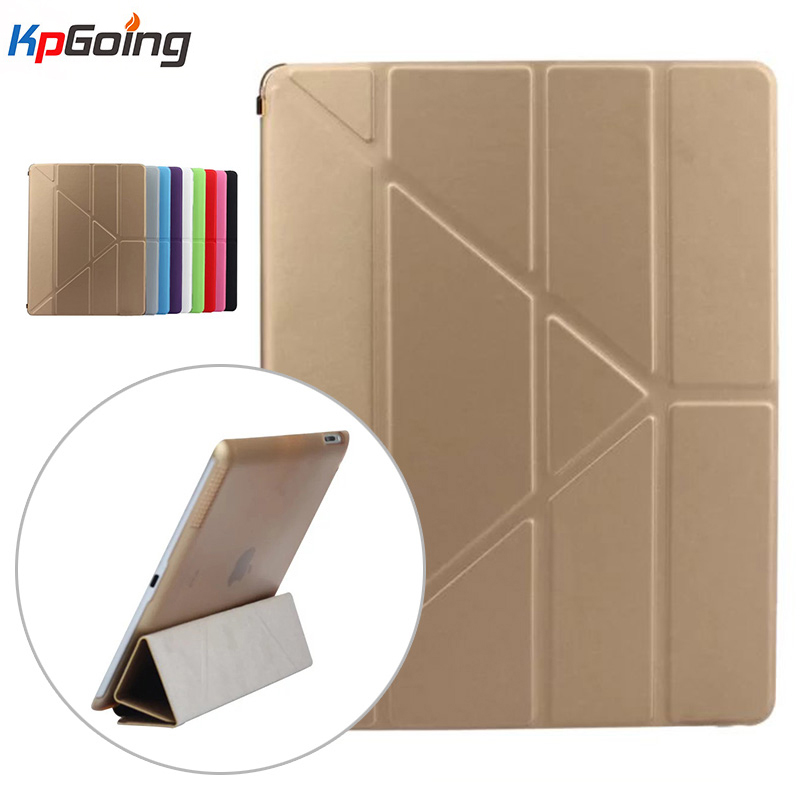 Elastic Skin Deformation Cover for Ipad Air 2 Transparent Funda Fashion PU Leather Flip Cover for Apple IPad Air 2 Case Tablet