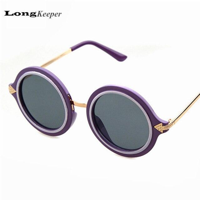popular glasses styles ujnb  Popular Round Frame Sunglasses Retro Women Men Sun Glasses Brand designer  Metal Alloy oculos de sol
