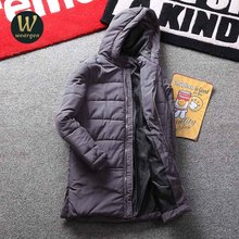 Winter Parka Men Jacket Coat  Collar Outerwear Fashion Hood Padded Quilted Warm Male Jackets Hooded Casual Wadde