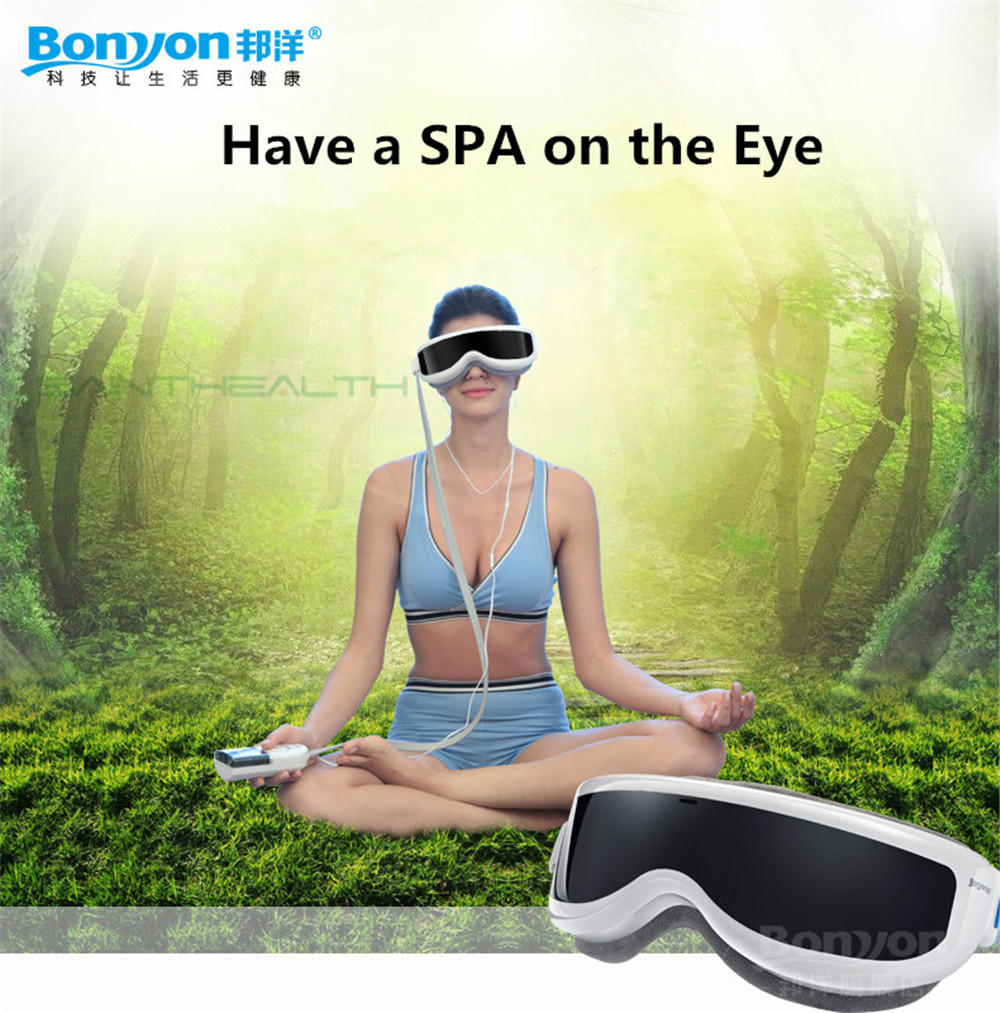 2016 Tens Electric Acupuncture Eye Massager Magnetic Usb With Infrared Heating, Air Pressure Vibration And Music Anti Myopia wireless usb intelligent air pressure eye massager far infrared heating functions eye relax massager glasses myopia prevention