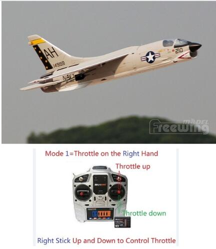 Freewing new plane 64mm F 8E CRUSADER rc jet toy ready to fly RTF version but