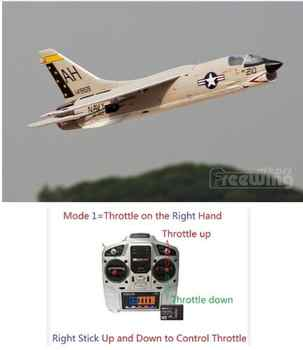 Freewing new plane 64mm F8E F-8E CRUSADER rc jet toy ready to fly RTF version, but NO battery, good for beginner - DISCOUNT ITEM  0% OFF All Category