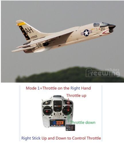 Freewing nuovo piano 64mm F-8E CROCIATO rc jet giocattolo pronto a volare RTF versione, ma SENZA batteria, buono per principiantiFreewing nuovo piano 64mm F-8E CROCIATO rc jet giocattolo pronto a volare RTF versione, ma SENZA batteria, buono per principianti