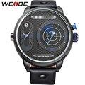 WEIDE Relógios Homens Luxo Marca Couro Famosos Strap 30 M Especialmente Concebidos À Prova D' Água de Grandes Dimensões Caixa do Relógio Novo relógio esportivo