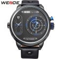 WEIDE Watches Men Luxury Brand Famous Leather Strap 30M Waterproof Specially Designed Oversized Watch Case New relogio esportivo