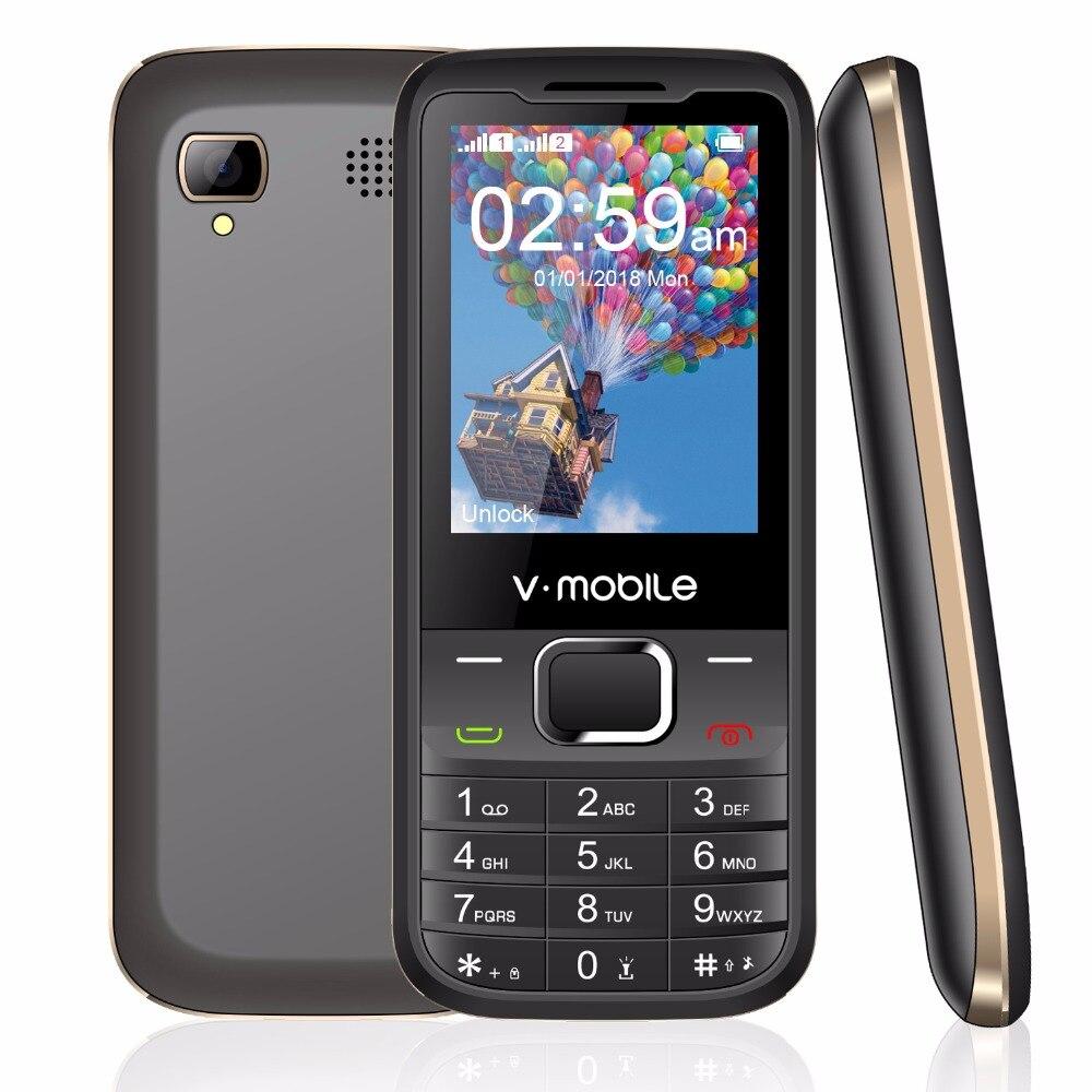 "2G GSM 2.4"" Dual Sim MP3/MP4 Player Video GPRS Bluetooth 1200mah Keyboard Button Mobile Phone Cheap Push Button Telephone"