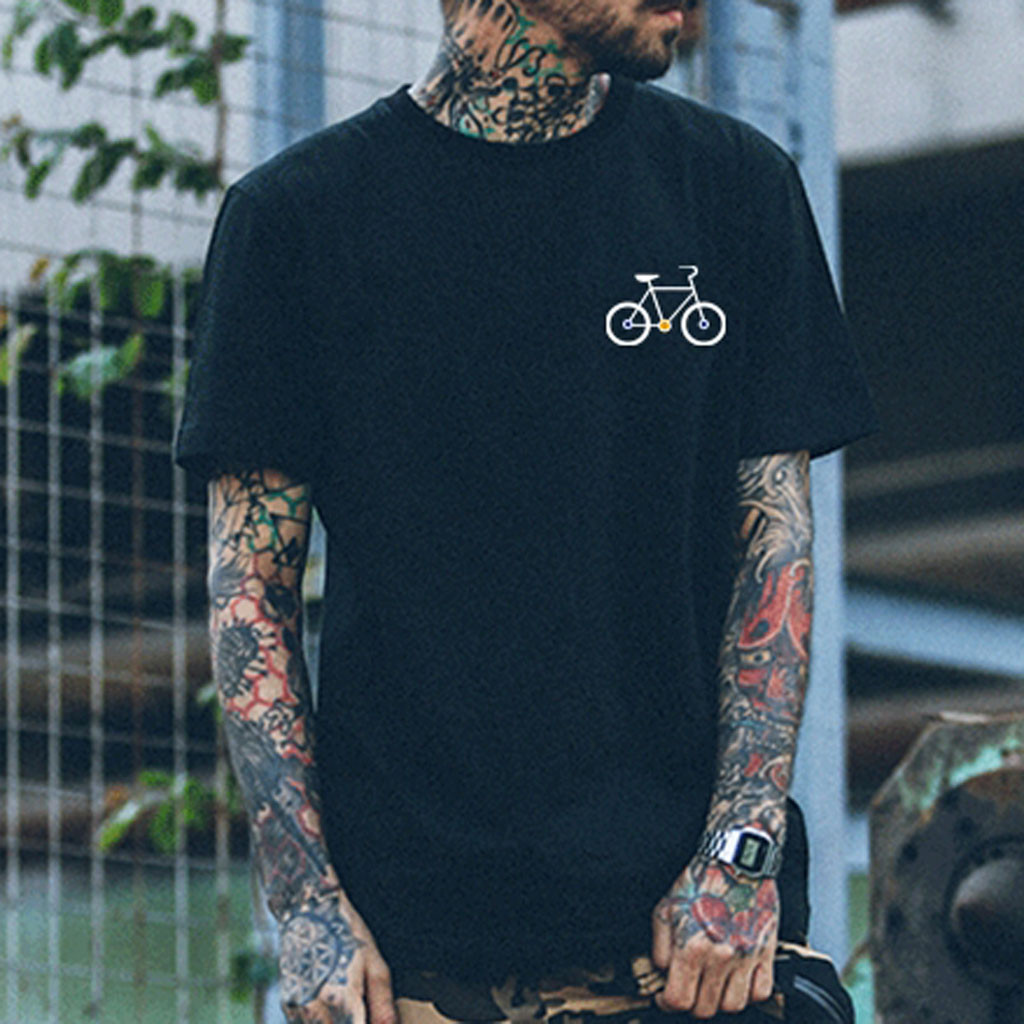 2019 New Band Rock T Shirt Mens Bicycle Graphic T-shirts Print Casual Tshirt O Neck Hip Hop Short Sleeve Cotton Top Tops & Tees T-shirts