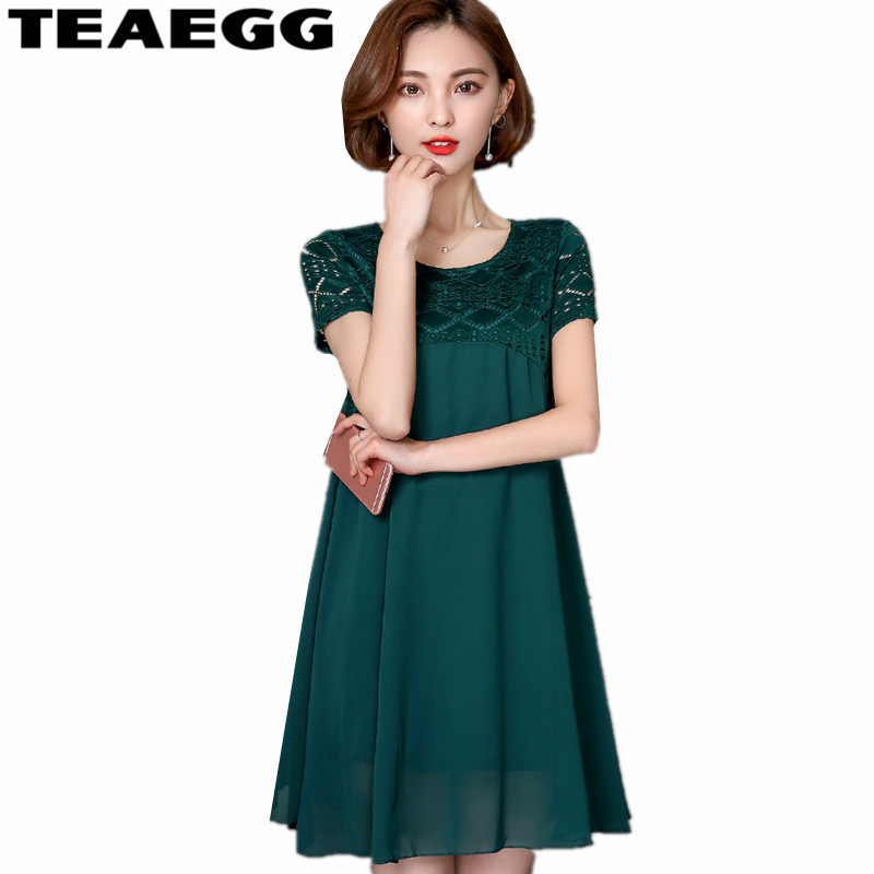 TEAEGG Robe Ete Femme Summer Beach Dress Plus Size Women Clothing 4XL 5XL Woman Dress Chiffon Vestidos Mujer Casual DressesAL998