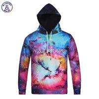 2017 mr.1991inc ile güzel uzay galaxy hoodies kap erkekler/kadınlar çift 3d kazak baskı ben bir hayalperest sonbahar kış ince kapüşonlu